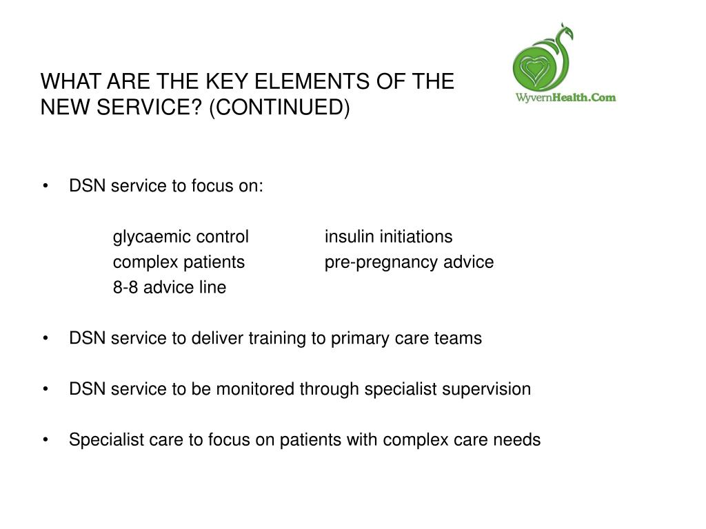 What are the key elements of the new service? (Continued)