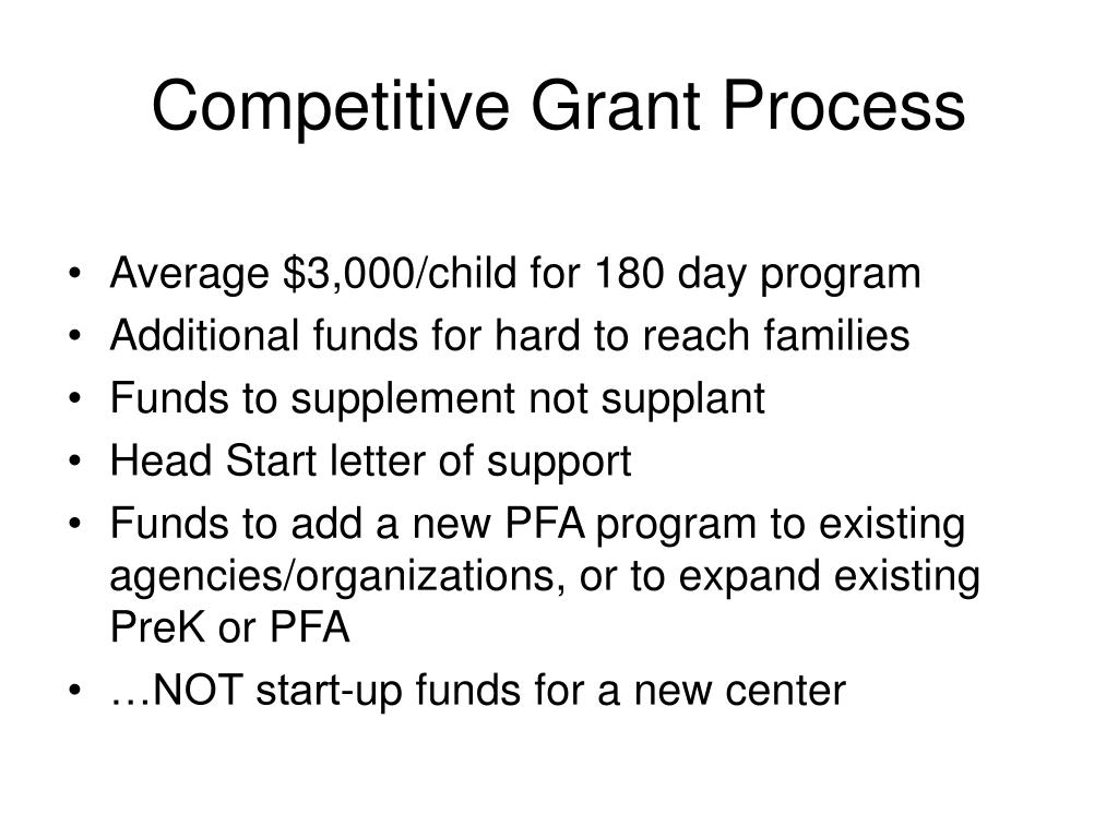 Competitive Grant Process