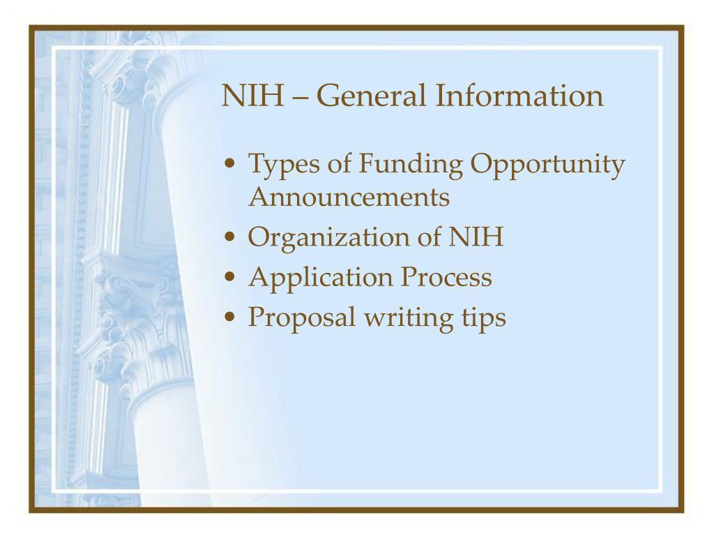 NIH – General Information