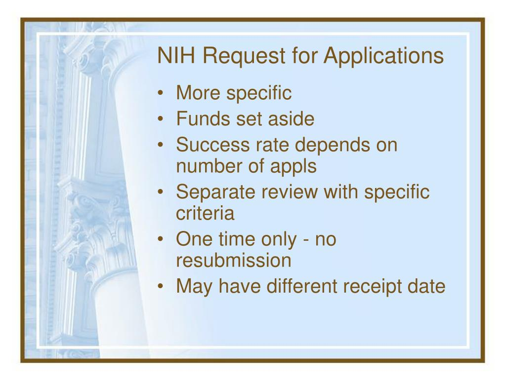 NIH Request for Applications