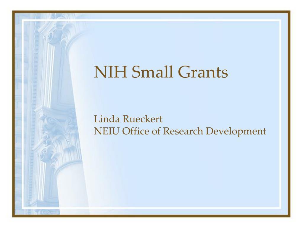 NIH Small Grants