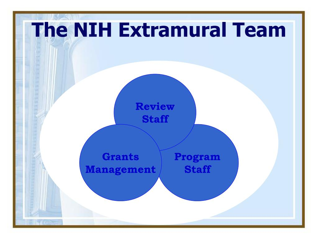 The NIH Extramural Team