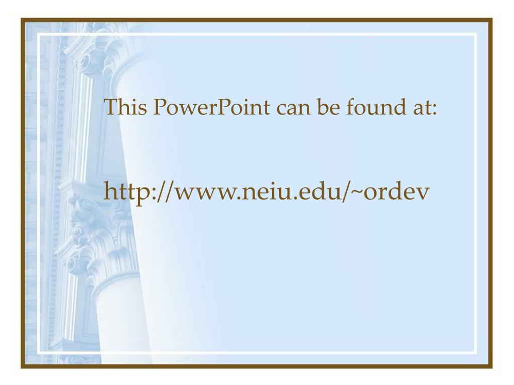 This PowerPoint can be found at: