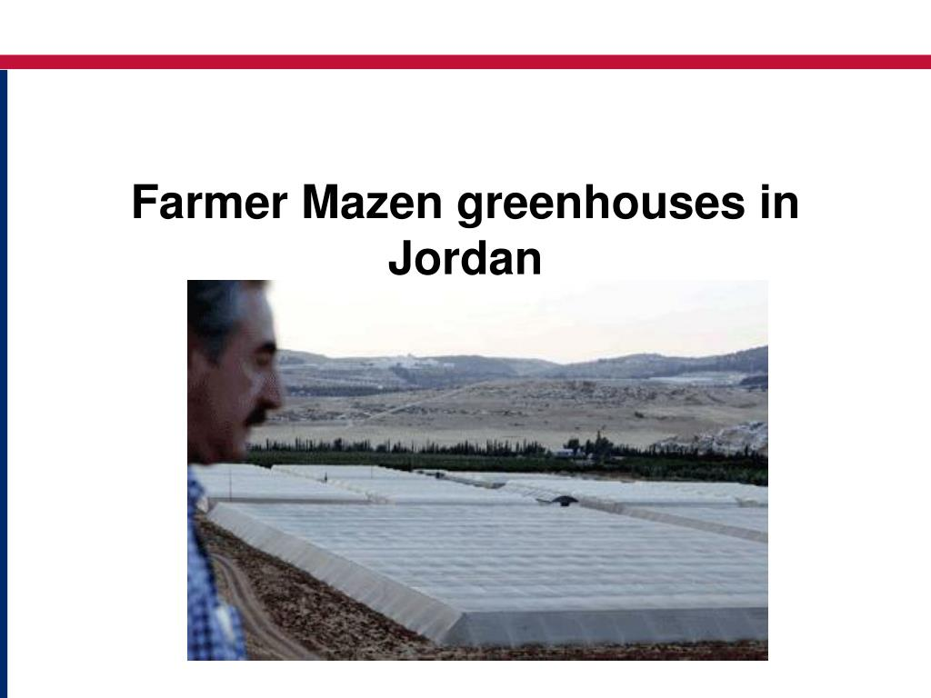 Farmer Mazen greenhouses in Jordan