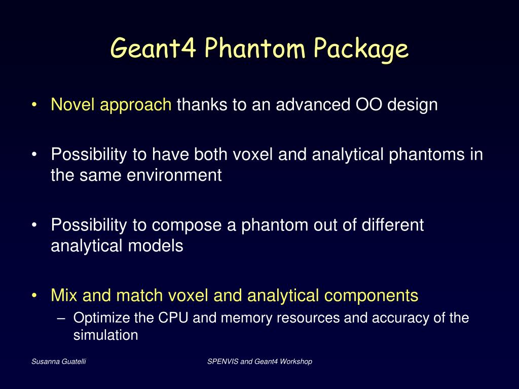 Geant4 Phantom Package