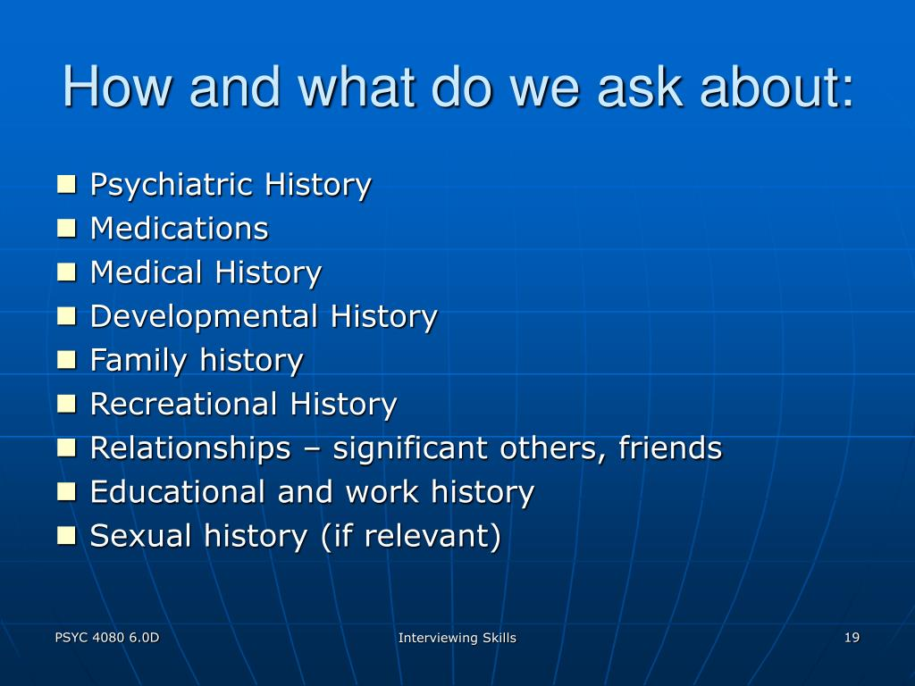 How and what do we ask about: