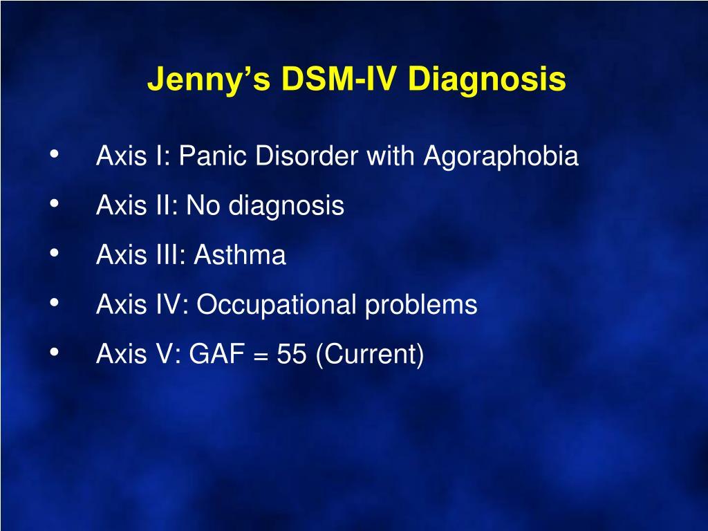 Jenny's DSM-IV Diagnosis