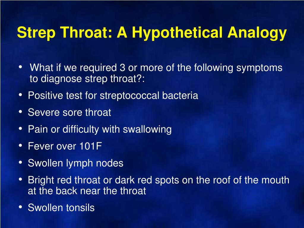 Strep Throat: A Hypothetical Analogy