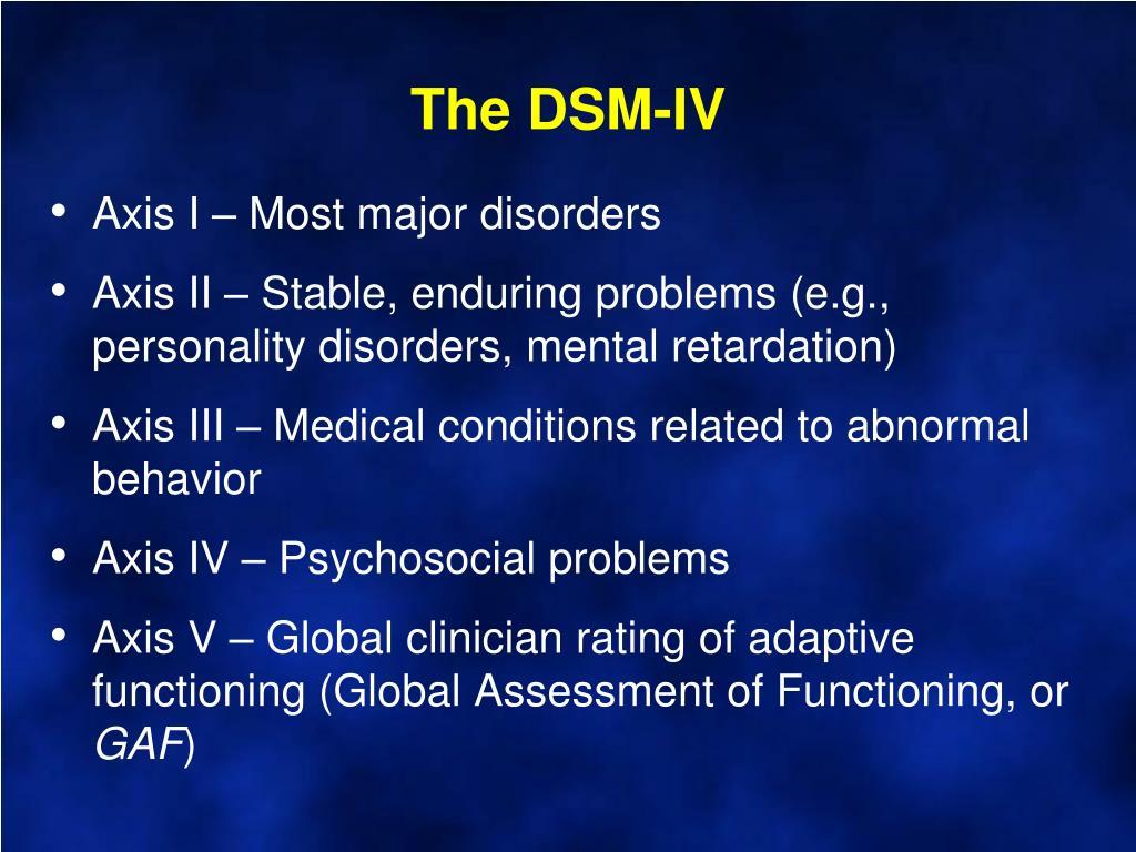 The DSM-IV