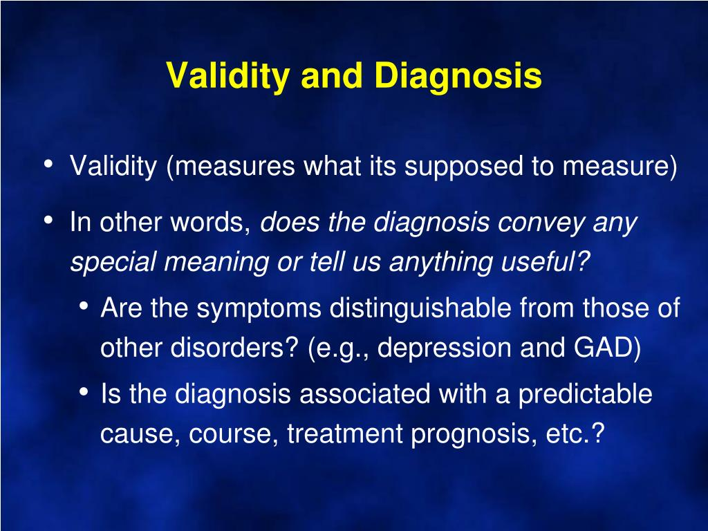Validity and Diagnosis