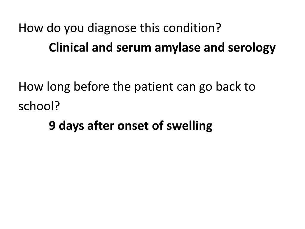 How do you diagnose this condition?