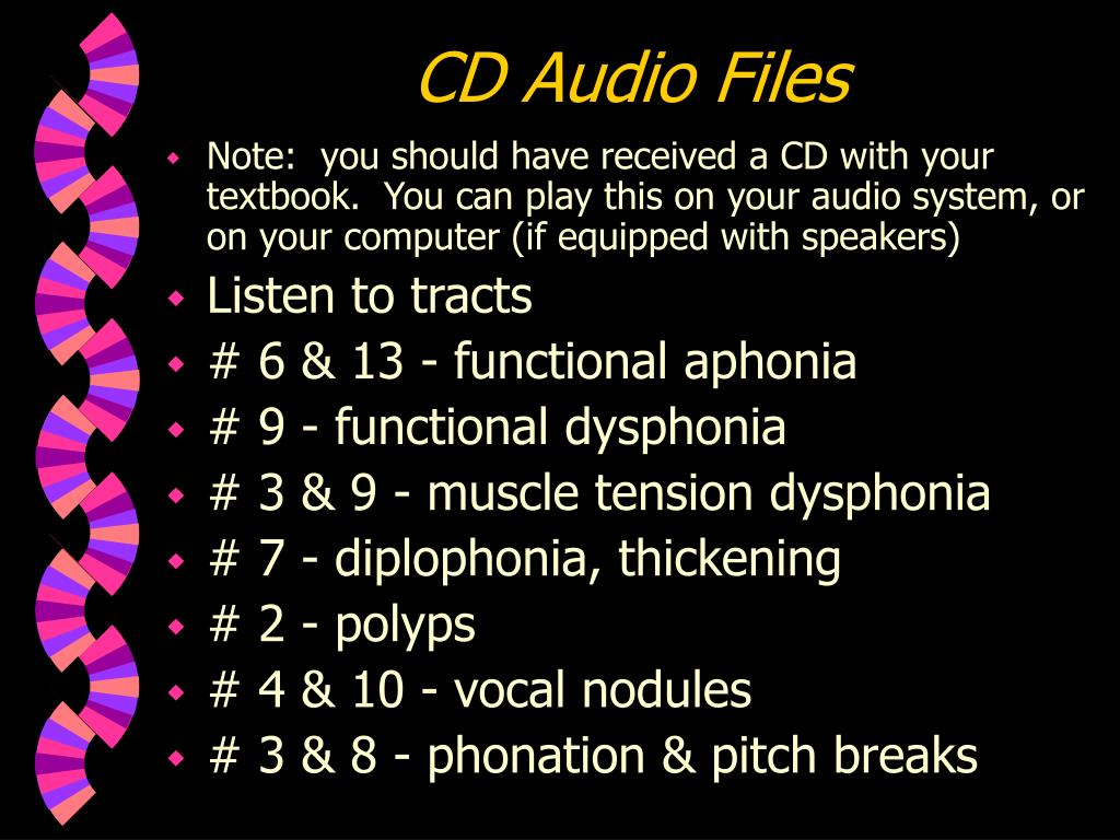 CD Audio Files