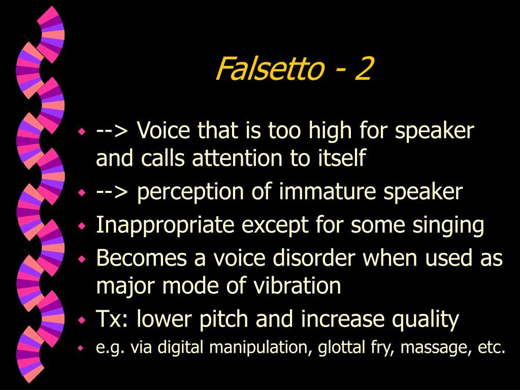 Falsetto - 2