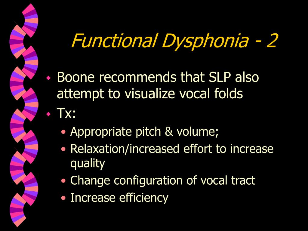Functional Dysphonia - 2