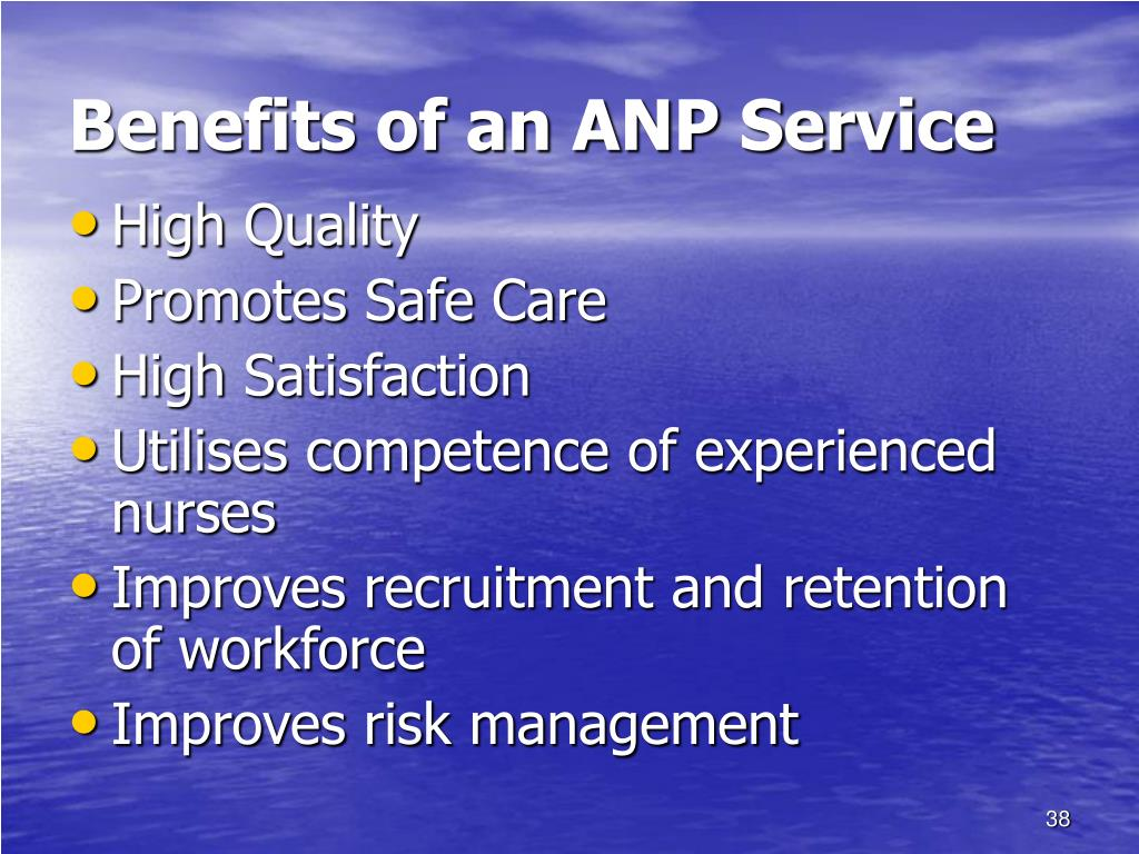 Benefits of an ANP Service