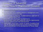 definition of advanced nurse midwife practitioner ireland6