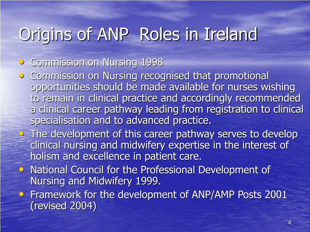 Origins of ANP  Roles in Ireland