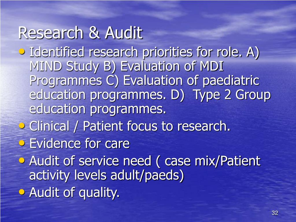 Research & Audit