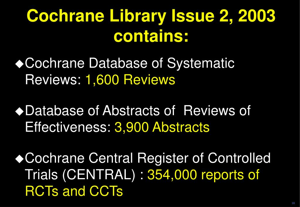 Cochrane Library Issue 2, 2003 contains: