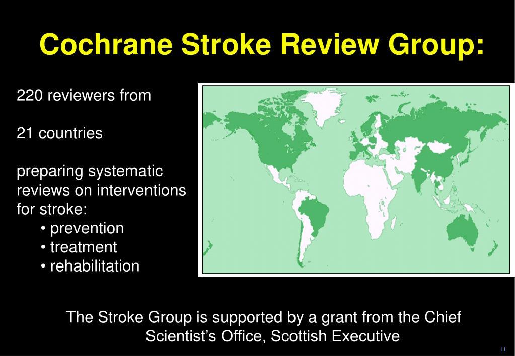 Cochrane Stroke Review Group: