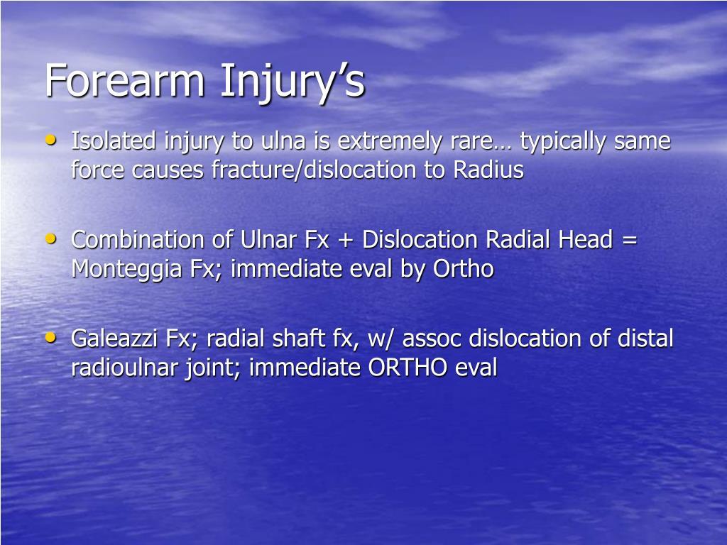 Forearm Injury's