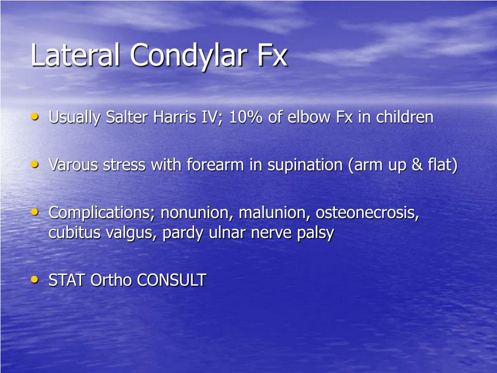 Lateral Condylar Fx
