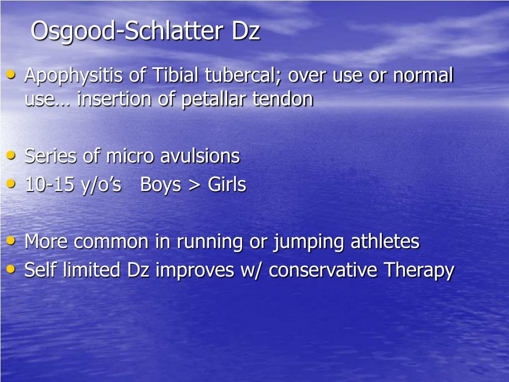 Osgood-Schlatter Dz