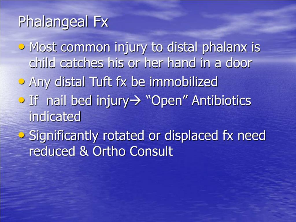 Phalangeal Fx