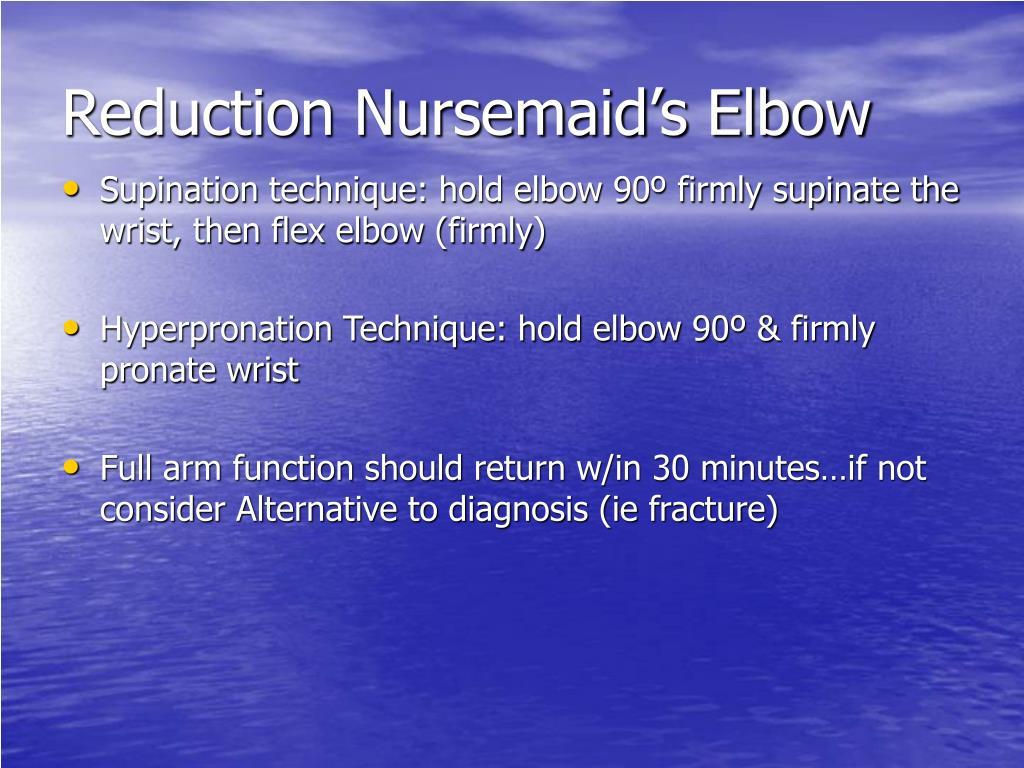 Reduction Nursemaid's Elbow