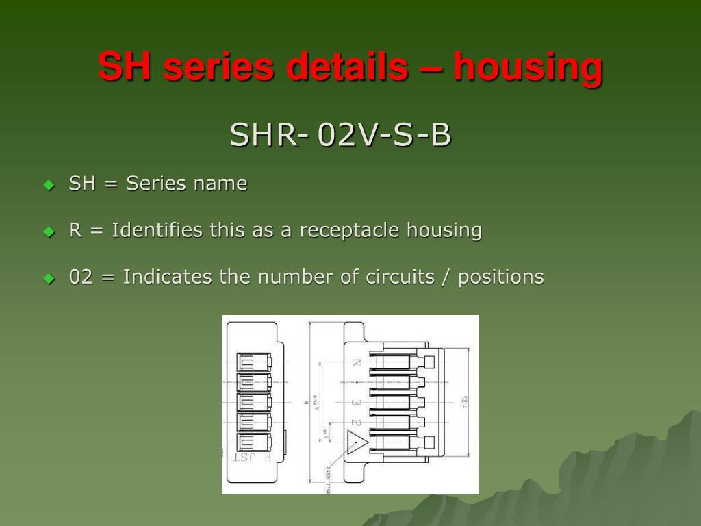 SH series details – housing