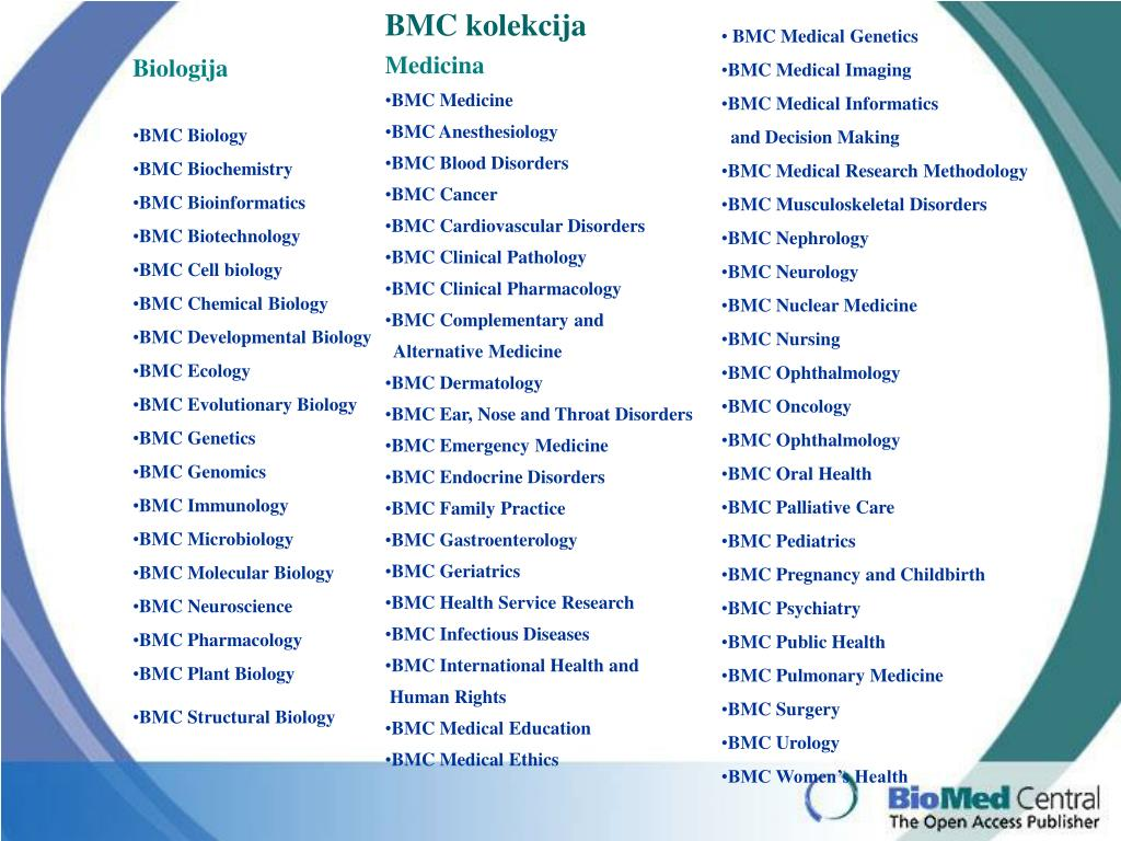 BMC kolekcija