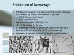 fabrication of nanoarrays