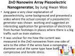zno nanowire array piezoelectric nanogenerator by jung hwan woo