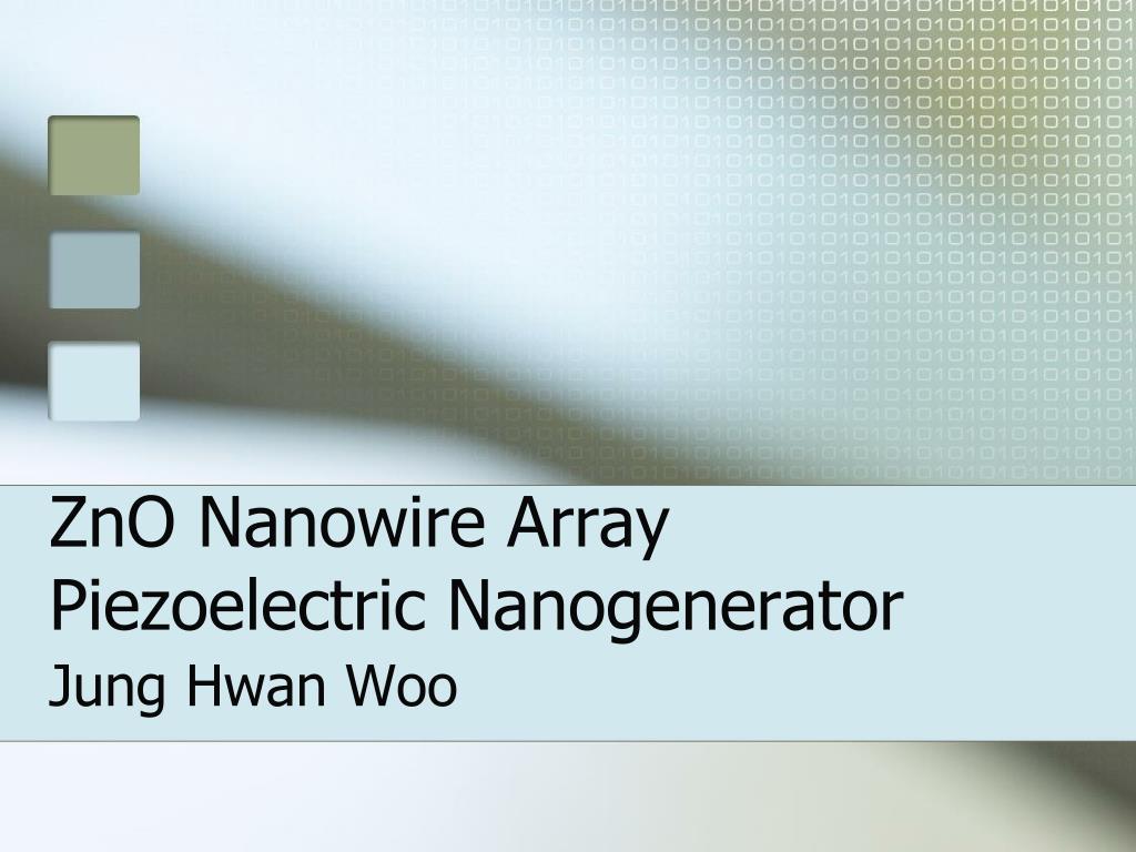 zno nanowire array piezoelectric nanogenerator