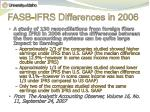 fasb ifrs differences in 2006
