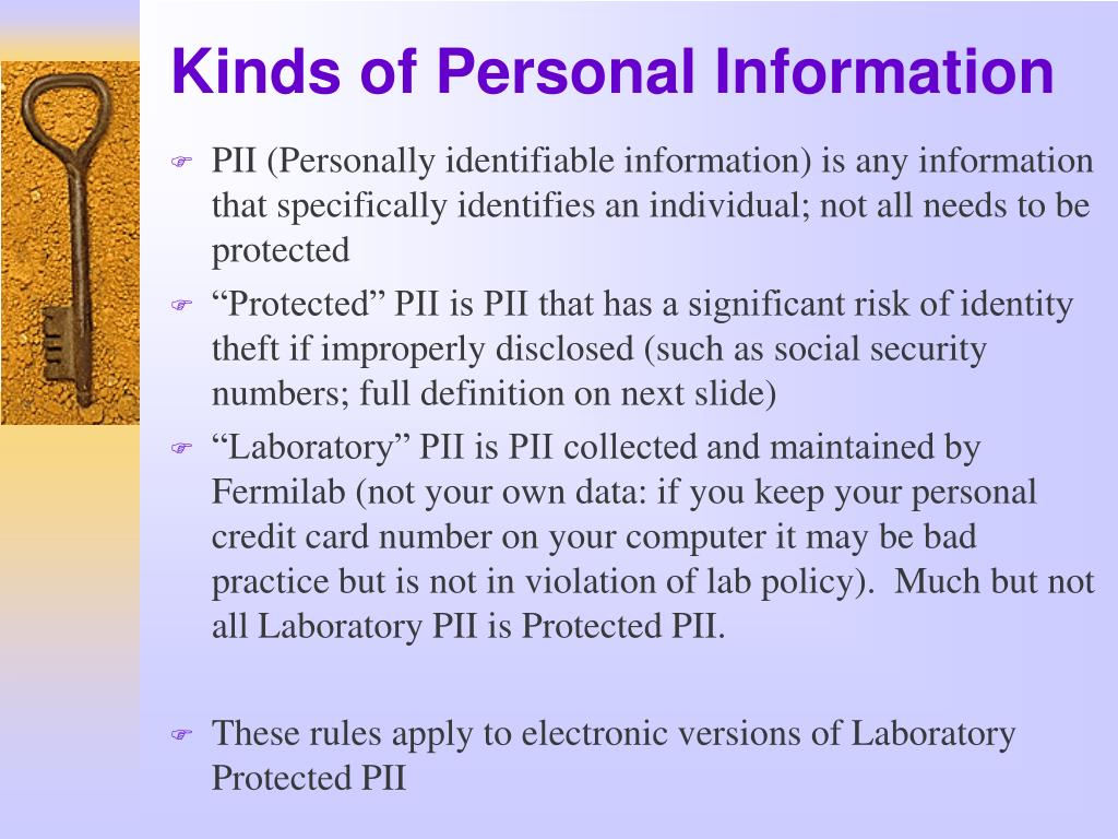 Kinds of Personal Information