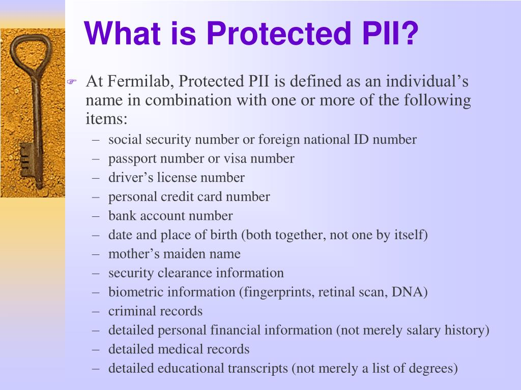 What is Protected PII?