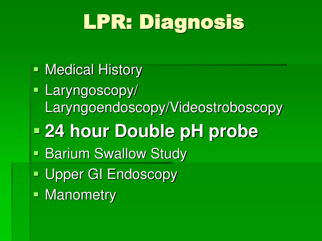 LPR: Diagnosis