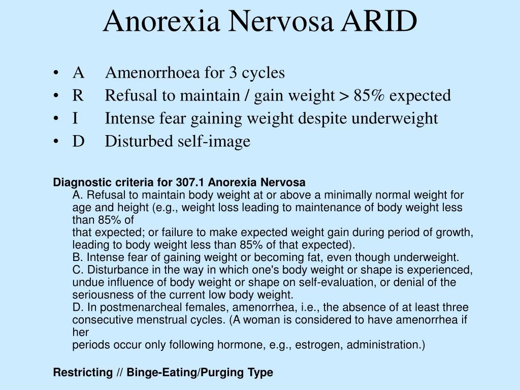 Anorexia Nervosa ARID