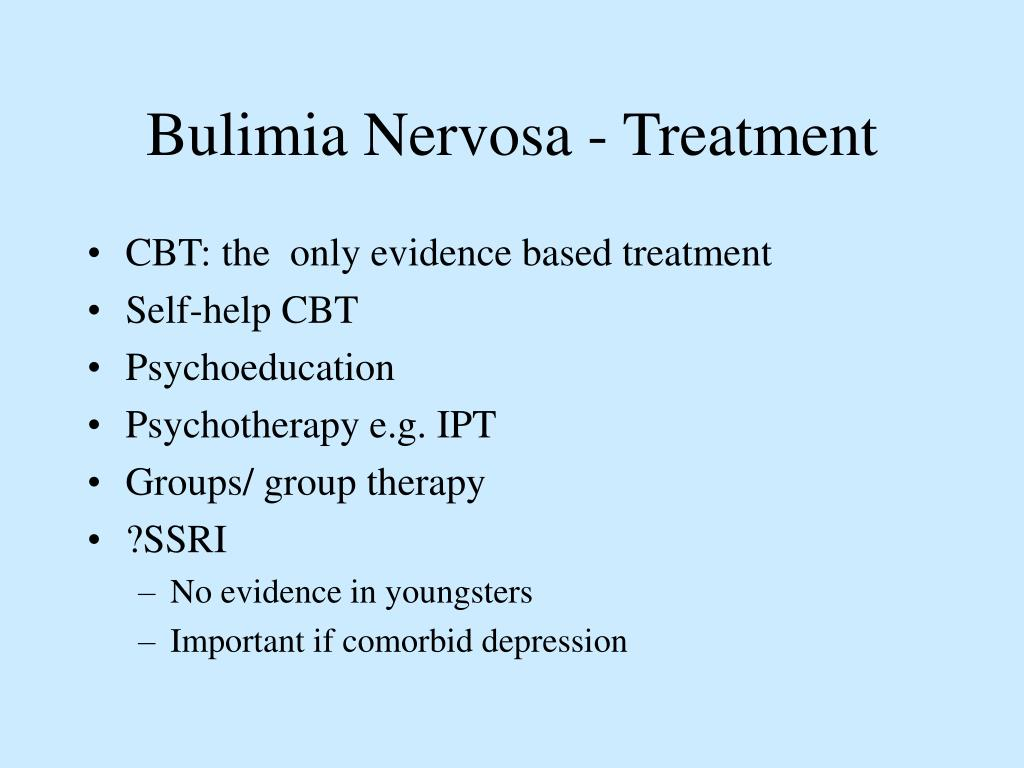 Bulimia Nervosa - Treatment