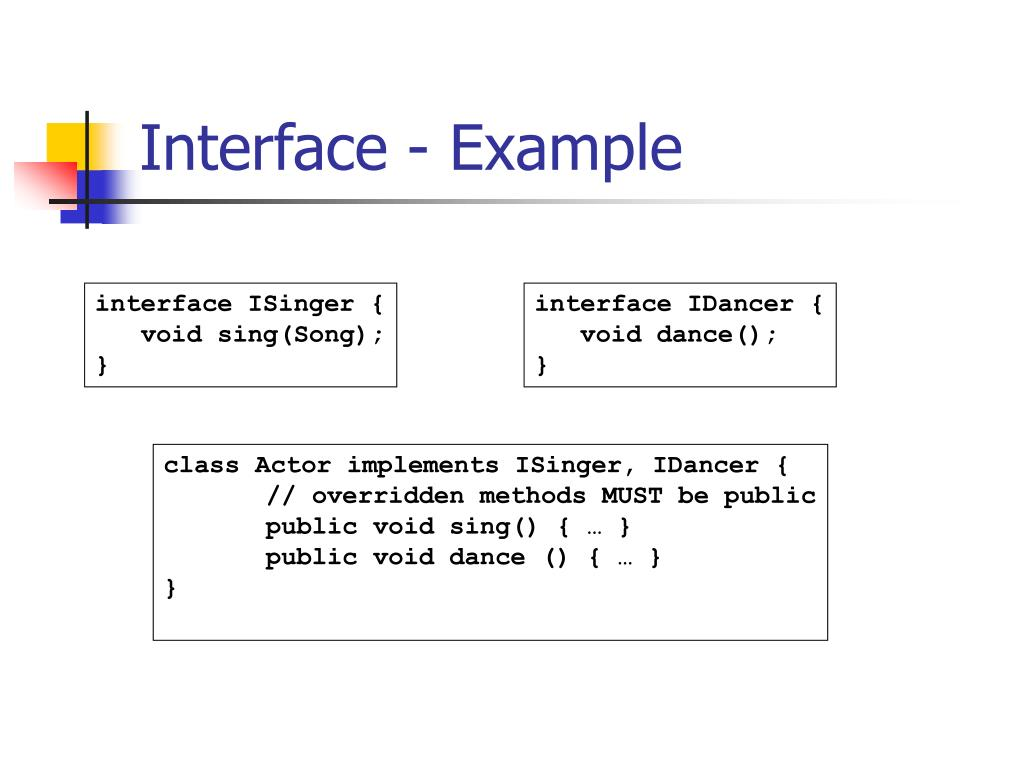 Interface - Example