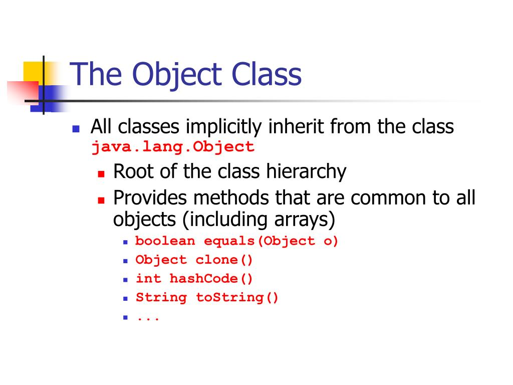 The Object Class