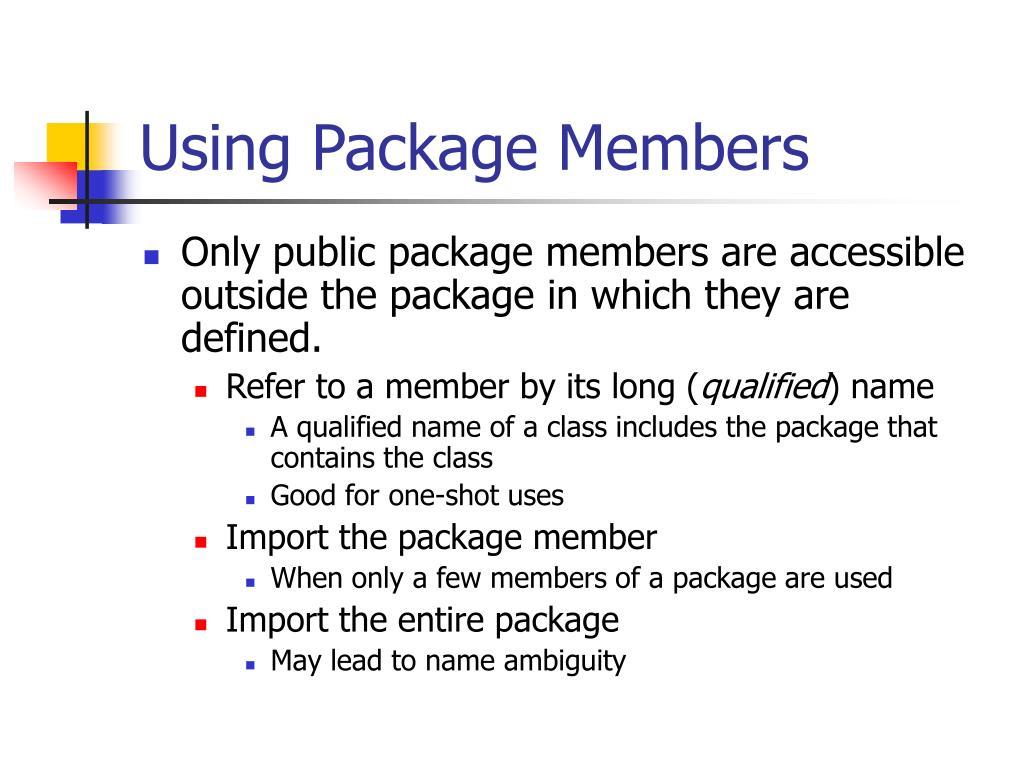 Using Package Members