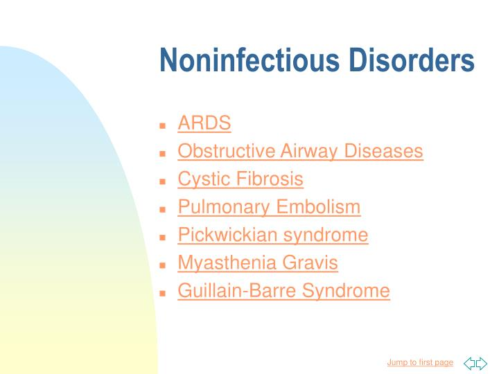 Noninfectious disorders
