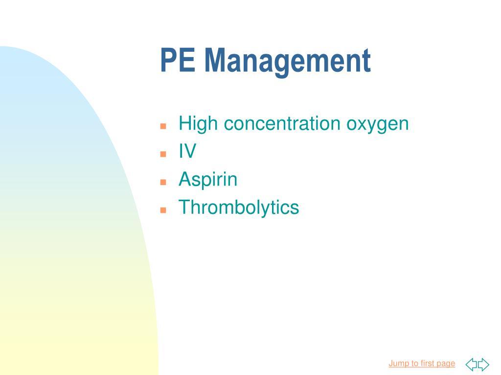 PE Management