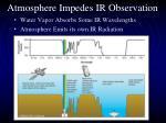 atmosphere impedes ir observation