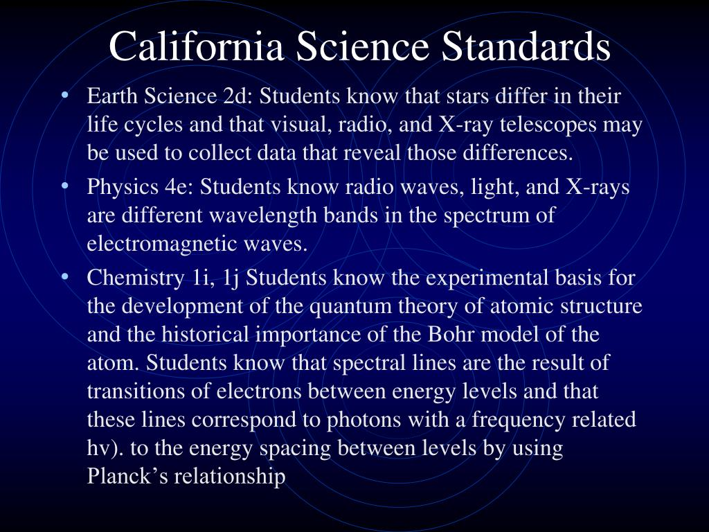 California Science Standards