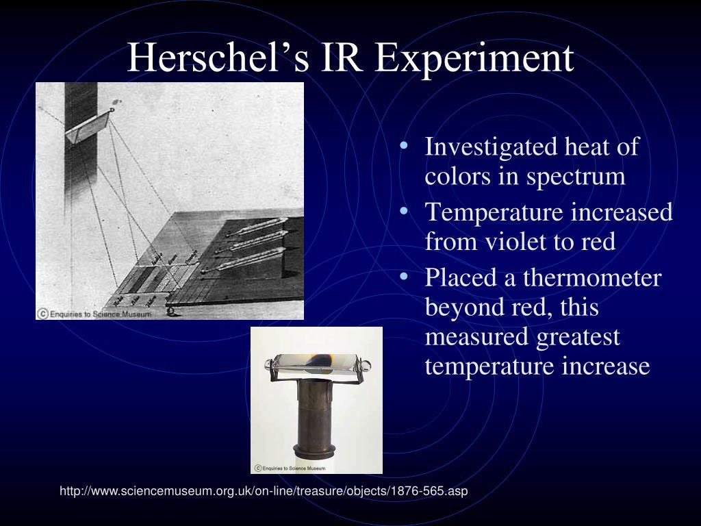 Herschel's IR Experiment