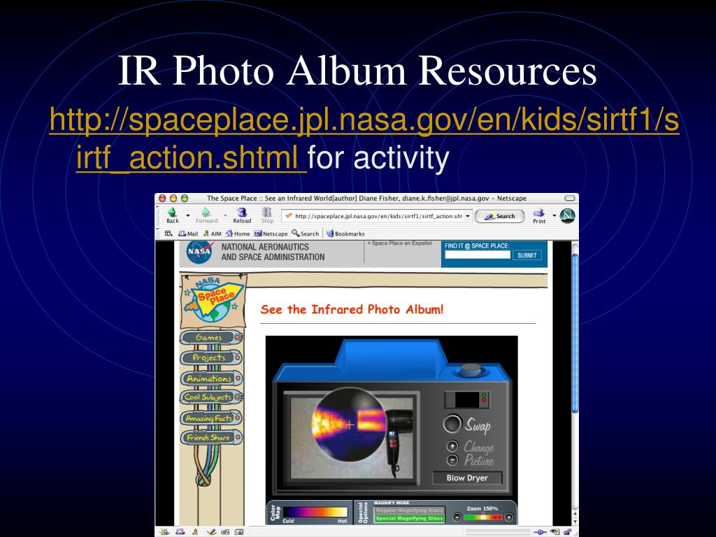 IR Photo Album Resources