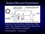 student herschel experiment